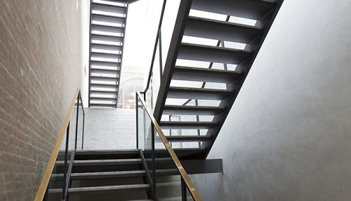 Modern stair in building